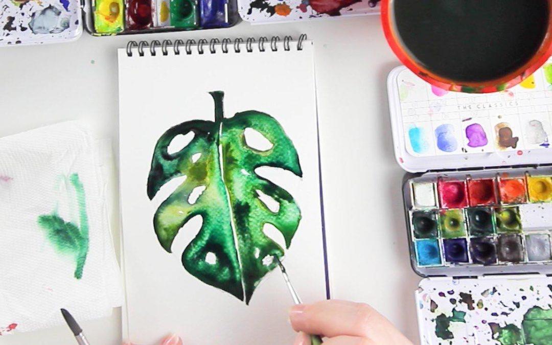 Fess légies akvarell leveleket